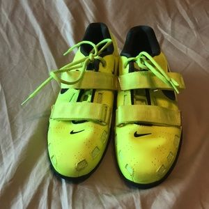 info for 23a12 490dc Nike Shoes - Nike Romaleos 2 weightlifting shoe. Neon yellow.